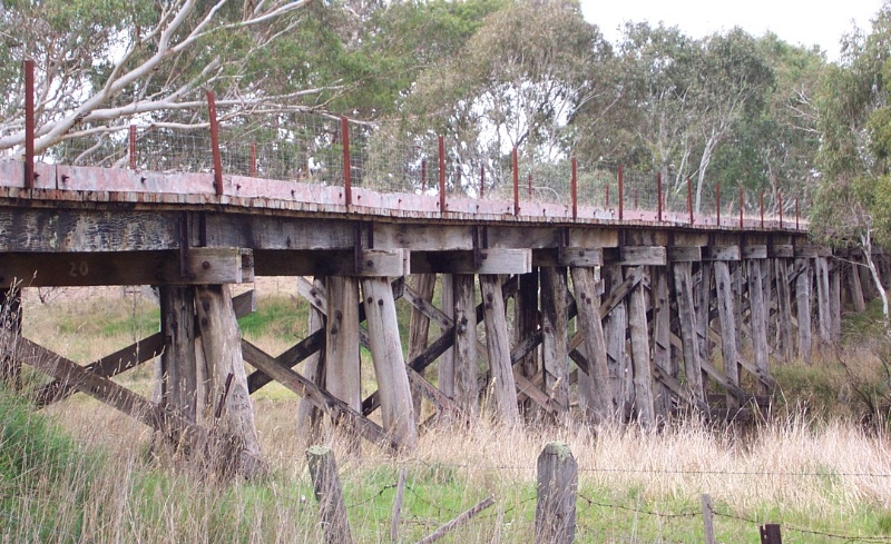 The trestle bridge at The Wannon - (no current transit)